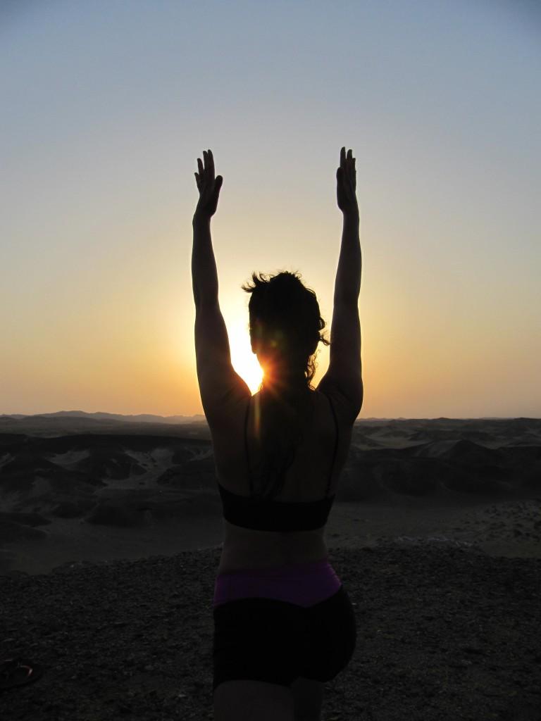 Egypt_posture with sunrise